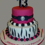 13 Birthday Cake Hot Pink And Zebra 13th Birthday Cake Cakecentral