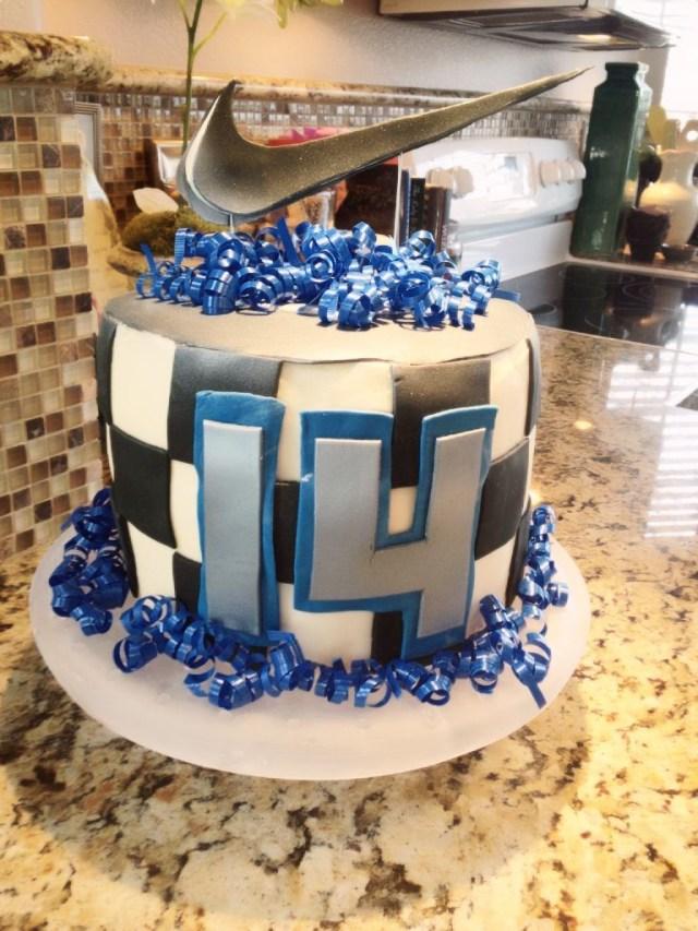 14Th Birthday Cake Ethans Nike 14th Birthday Cake Cakes Pinterest Teen Cakes
