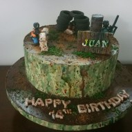 14Th Birthday Cake Paintball Themed Custom 14th Birthday Cake For Juan Yelp