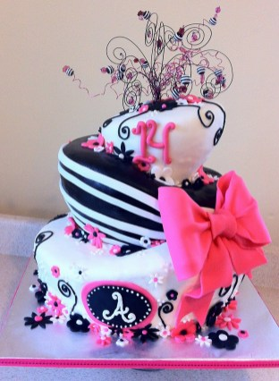 14Th Birthday Cake Pin Peggy Newsome On Cakes In 2018 Pinterest 14th Birthday