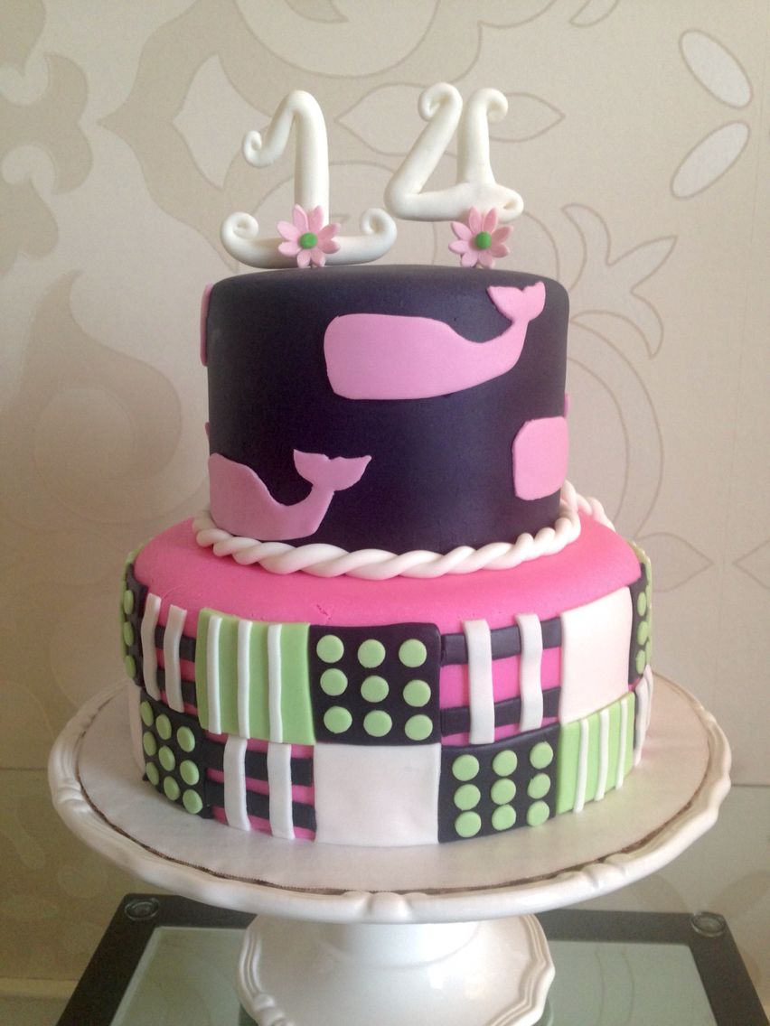 14Th Birthday Cake Vineyard Vines 14 Cakes Wendy Groon