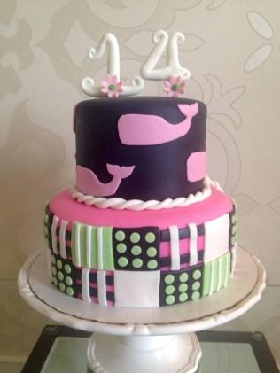 14Th Birthday Cake Vineyard Vines 14 Birthday Cake Cakes Wendy Groon Cake