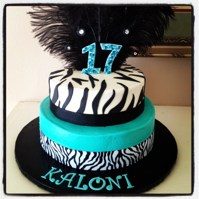 17 Year Old Birthday Cake Zebra Birthday Cake For 17 Year Old My Creations Birthday Cake