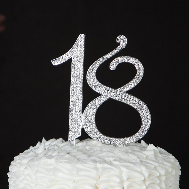 18 Birthday Cake 18 Cake Topper 18th Birthday Party Supplies Decoration Ideas
