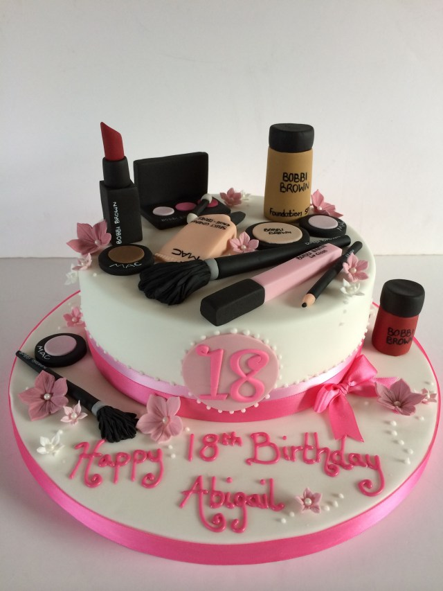 18 Birthday Cake 18th Birthday Makeup Cake Birthday 18th Birthday Cake Cake