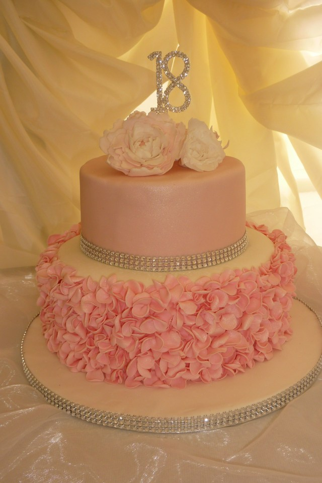 18 Birthday Cake Pink 18th Birthday Cake We Made Ruffles And Peonies Ideas For