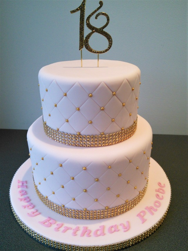 18Th Birthday Cake Designs Pink And Gold Quilted 18th Birthday Cake Cakes Pinterest 18th