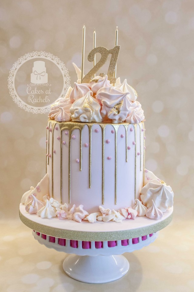 21St Birthday Cake Ideas For Her Pastel Pink And Gold Drip Cake For Francescas 21st Birthday Cake