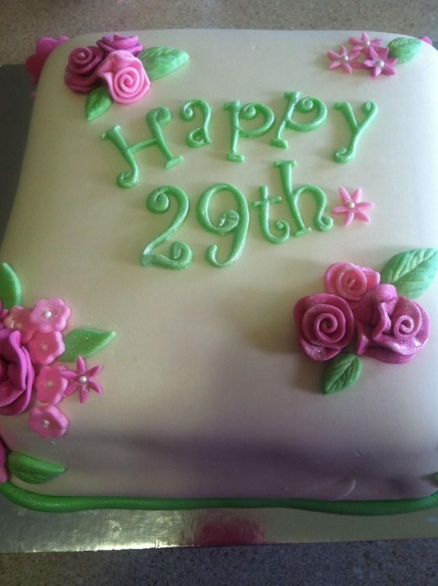 29Th Birthday Cake 29th Birthday Cake Cupcakes And Cakes Pinterest 29th Birthday