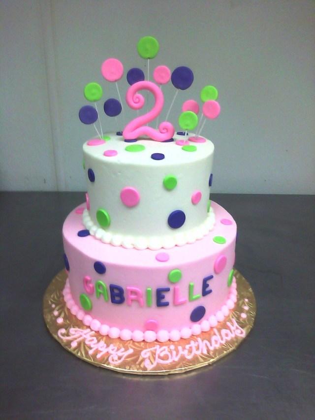 2Nd Birthday Cake Ideas Pink Purple Green 2nd Birthday Cake Main Made Custom Cakes Cakepins