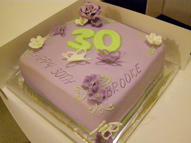 30Th Birthday Cake Ideas For Her Sweet Mummas Cupcakes Brookes 30th Birthday Cake