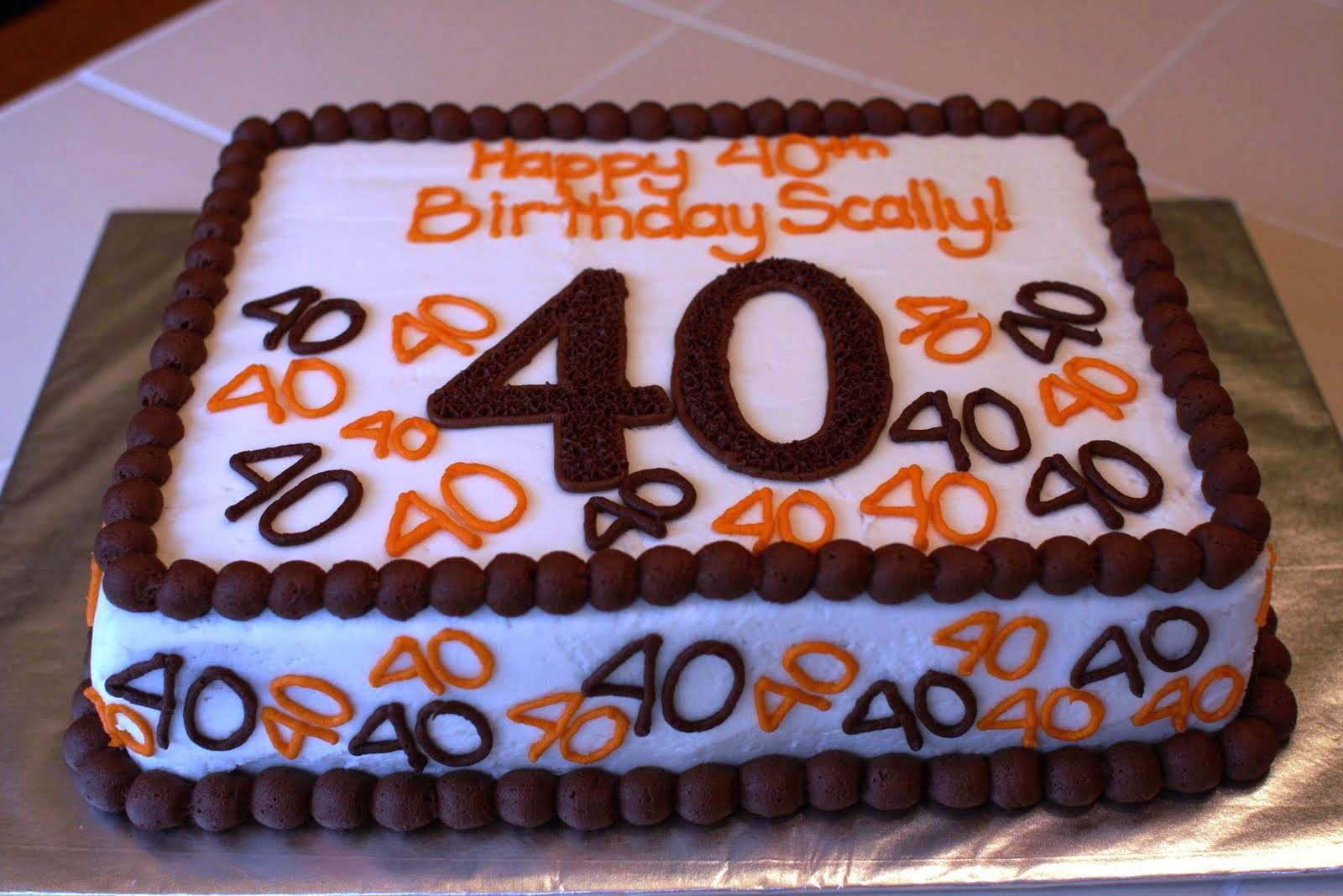 40Th Birthday Cake Ideas 40th Birthday Cake Ideas For Men Protoblogr Design 40th Birthday