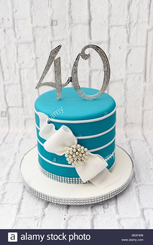 40Th Birthday Cake Ideas 40th Birthday Cake Stock Photos 40th Birthday Cake Stock Images