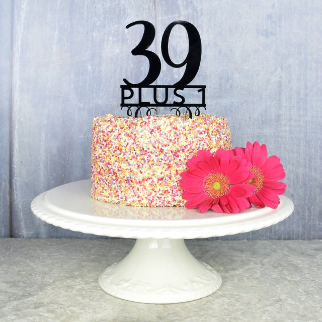 40Th Birthday Cake Ideas 40th Topper Pink And Turquoise Notonthehighstreet