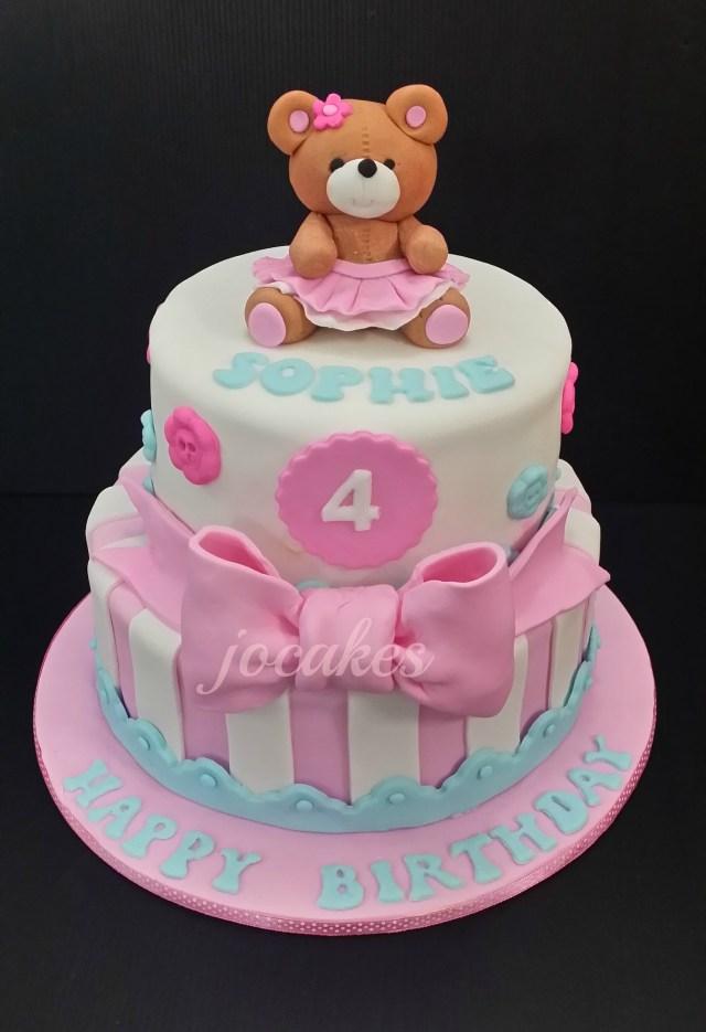 4Th Birthday Cake Bear Cake For Sophies 4th Birthday Jocakes