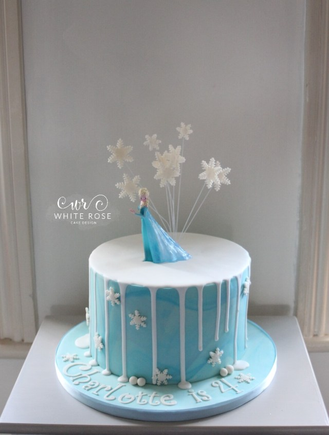 4Th Birthday Cake Elsa From Frozen Themed 4th Birthday Cake White Rose Cake Design
