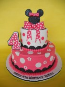 4Th Birthday Cake Minnie Mouse 4th Birthday Cake A Photo On Flickriver