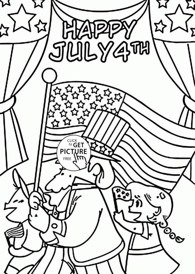 4th Of July Coloring Pages 4th Of July Coloring Pages Wwwallanlichtman