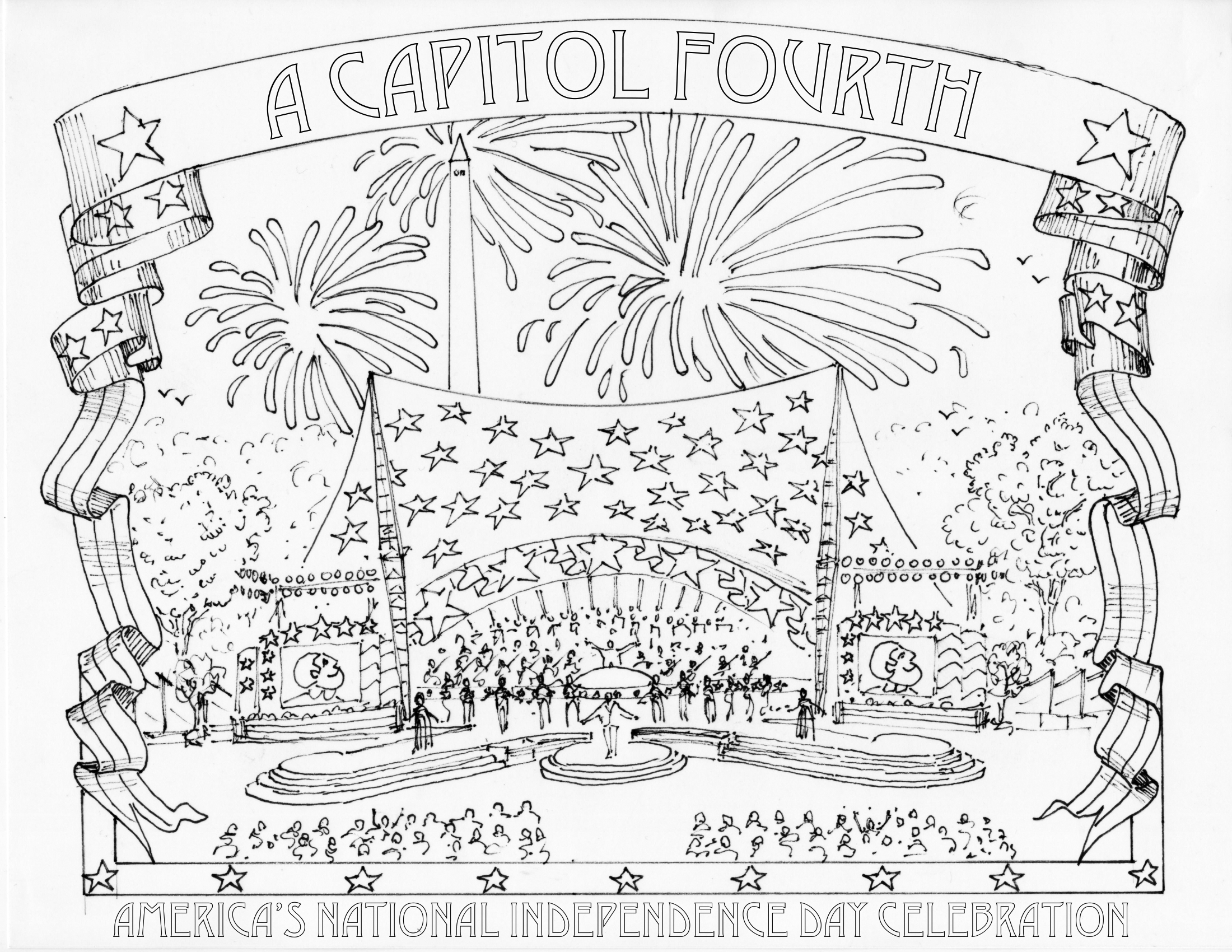 4th Of July Coloring Pages Fourth Of July Coloring Pages A Capitol Fourth Pbs