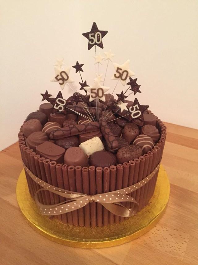 50Th Birthday Cake Ideas For Him Chocolate Cigarello 50th Birthday Cake Sweets Pinte
