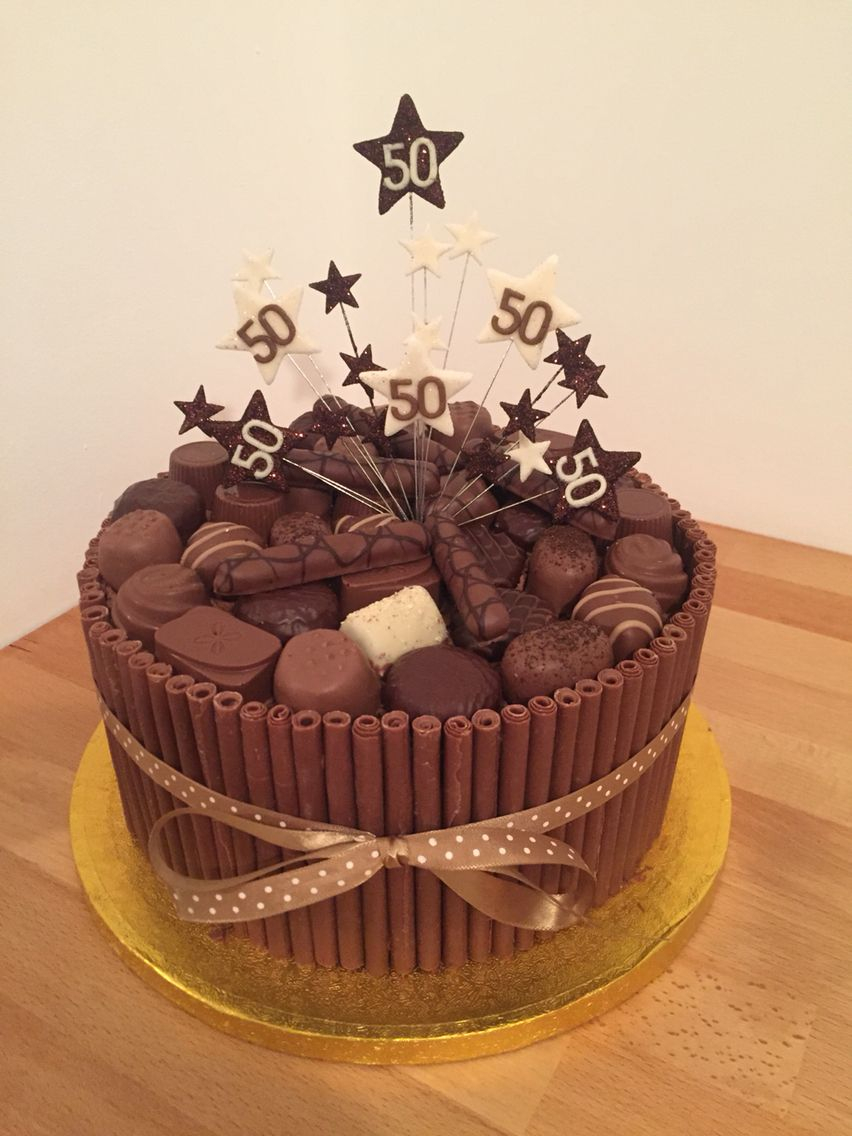 50Th Birthday Cake Ideas For Him Chocolate Cigarello 50th Sweets Pinte