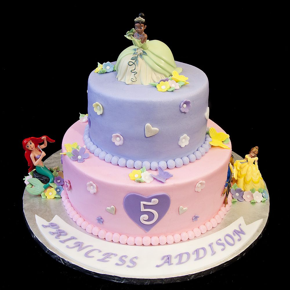 5Th Birthday Cake 078 Three Disney Princesses For 5 Year Old