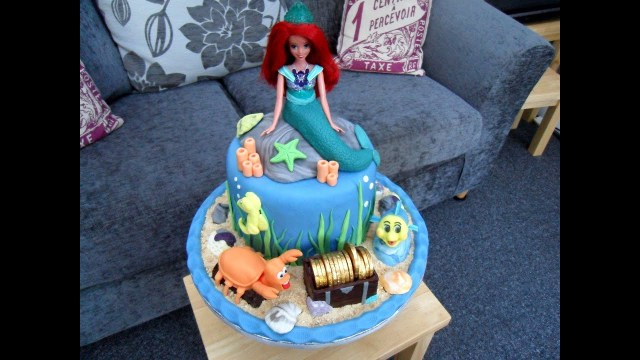 5Th Birthday Cake Evies 5th Birthday Cake Ariel The Little Mermaid Youtube