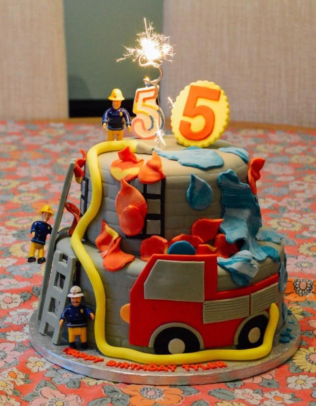 5Th Birthday Cake Tylers 5th Birthday Fireman Sam Birthday Cake Dolly Dowsie