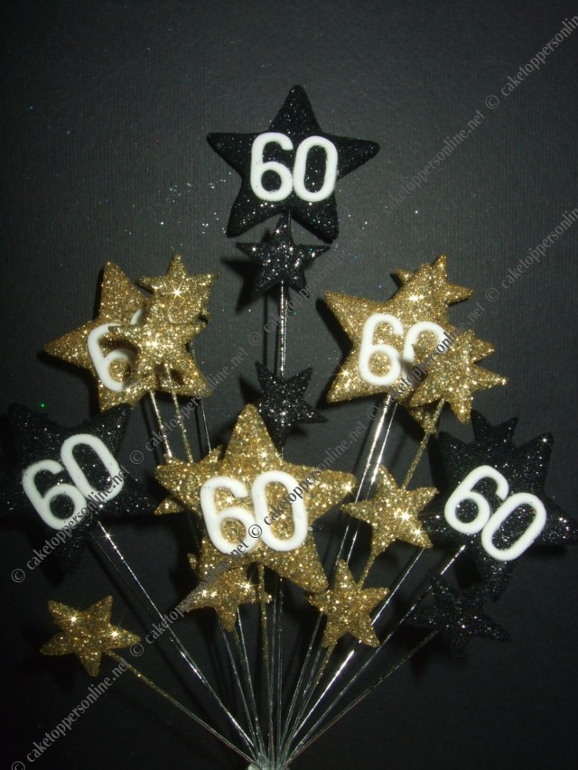 60Th Birthday Cake Toppers Download Cake Decorations 60th Birthday Abc Birthday Cakes