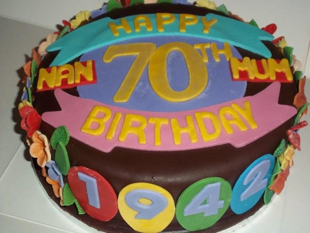 70Th Birthday Cake 70th Birthday Cake Jans Occasional Cakes