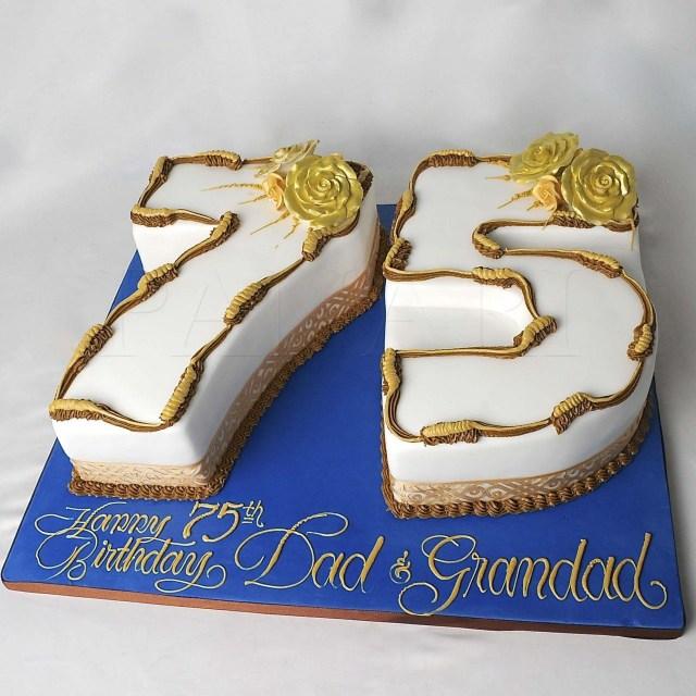 75Th Birthday Cake 75 Years Birthday Cake 75th Birthday Cake An4203 Barry Beckham
