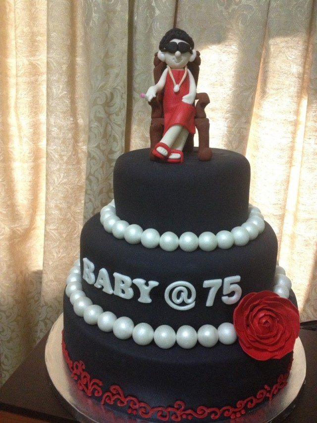 75Th Birthday Cake Customized 75th Kiddie Affairs Custom Cakes
