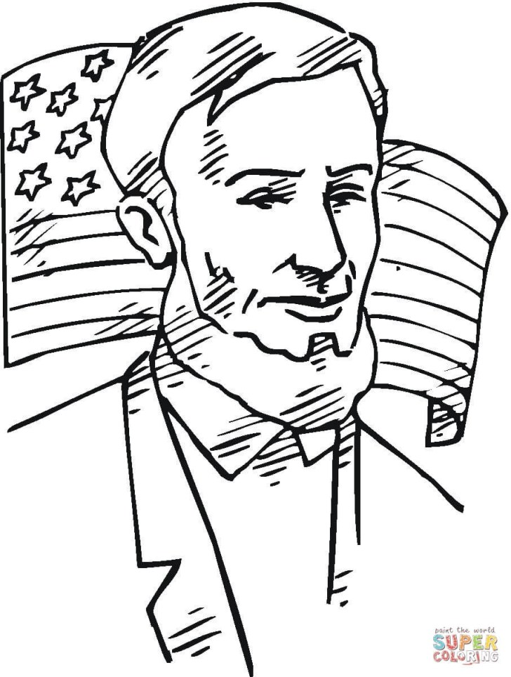 Wonderful Image of Abraham Lincoln Coloring Page