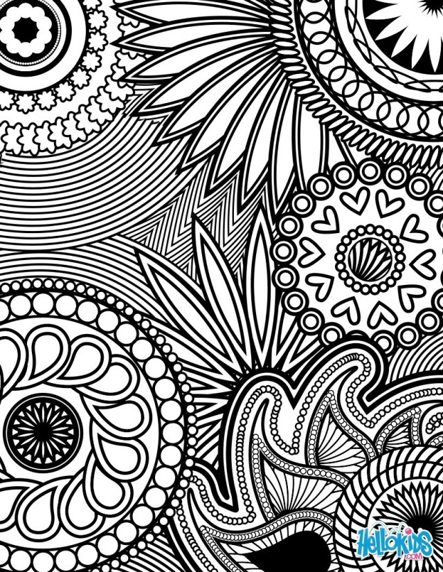 Adult Coloring Pages Paisley Hearts And Flowers Anti Stress Coloring Design Coloring