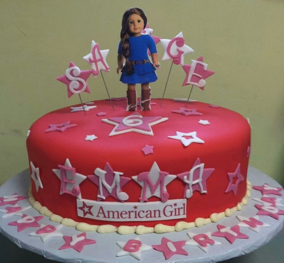 American Girl Birthday Cake Kids Cakes Pinterest