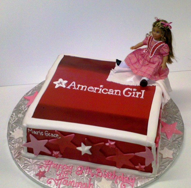 American Girl Birthday Cake American Girl Cake Stans Northfield Bakery 330 467 8655 W Flickr
