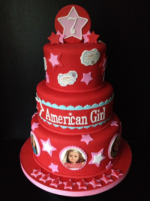 American Girl Birthday Cake American Girl Doll Cake All Fondant With Edible Images Cake