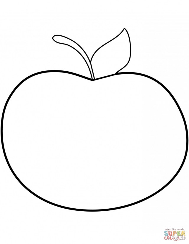 Apple Coloring Pages Apple Coloring Pages For Kindergarten With Pre K Also Sheets