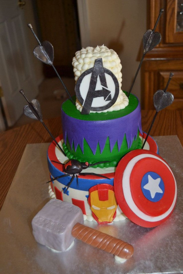 Avengers Birthday Cakes Avenger Birthday Cakes Wedding Academy Creative Really Cool