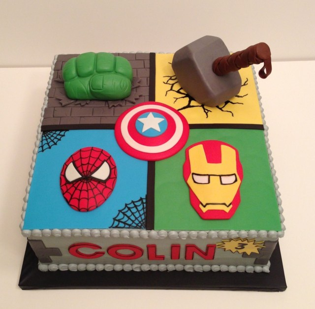 Avengers Birthday Cakes Avengers Cake Hulk Fist And Thor Hammer Are Rice Cereal Treats W