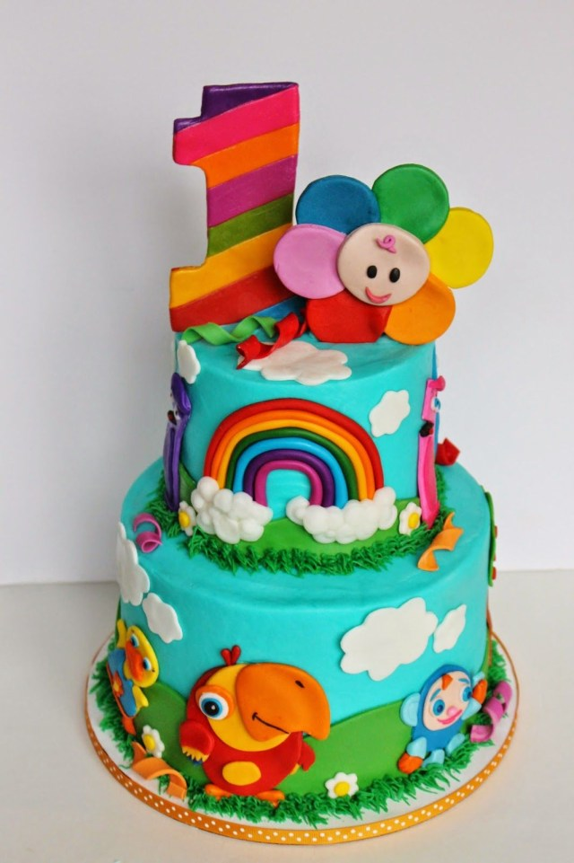 Baby 1St Birthday Cake And Everything Sweet Bas First Tv 1st Birthday First