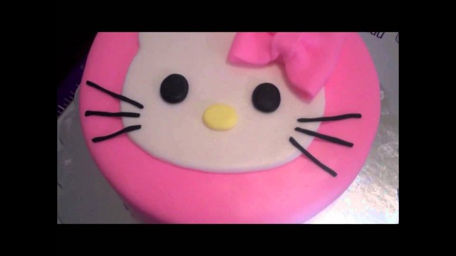 Baby Girl Birthday Cake Making A Hello Kitty Birthday Cake For Our Ba Girl Youtube