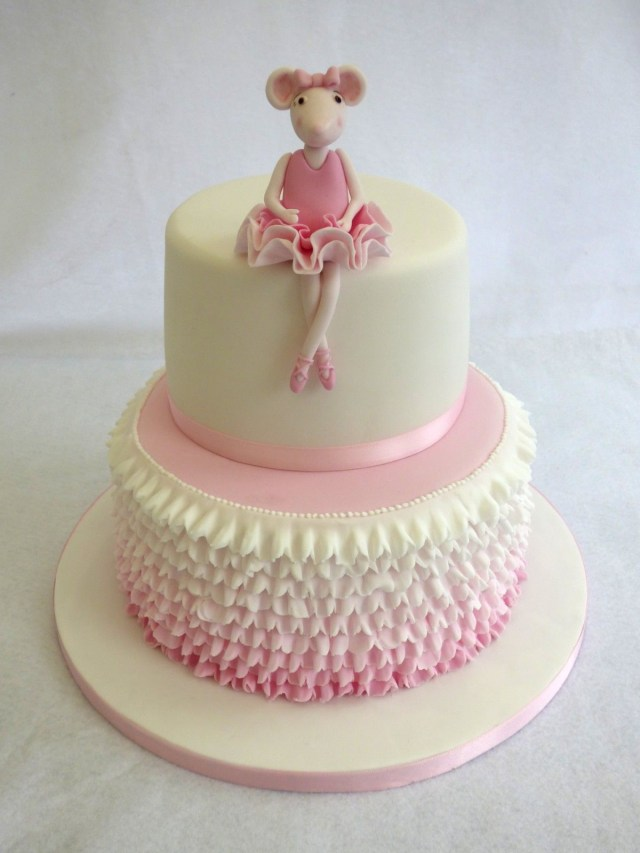 Ballerina Birthday Cake Angelina Ballerina 2 Tier Birthday Cake Birthday Ideas For B