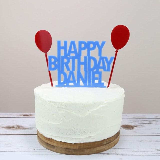 Balloon Birthday Cake Balloons Birthday Cake Topper Prezzely