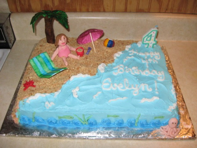 Beach Theme Birthday Cake Beach Theme Birthday Cake Cakecentral