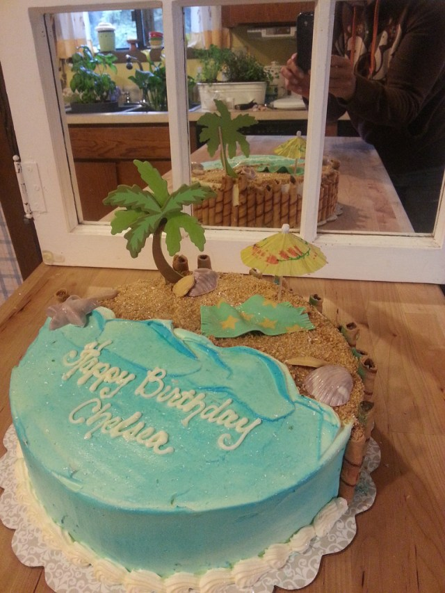 Beach Theme Birthday Cake Beach Themed Birthday Cake Traci Aiello Flickr