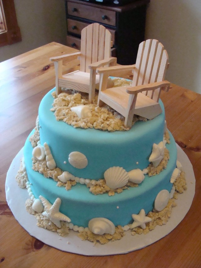 Beach Theme Birthday Cake Beach Wedding Cake Cup Cake Wedding Shower For A Bride Having A