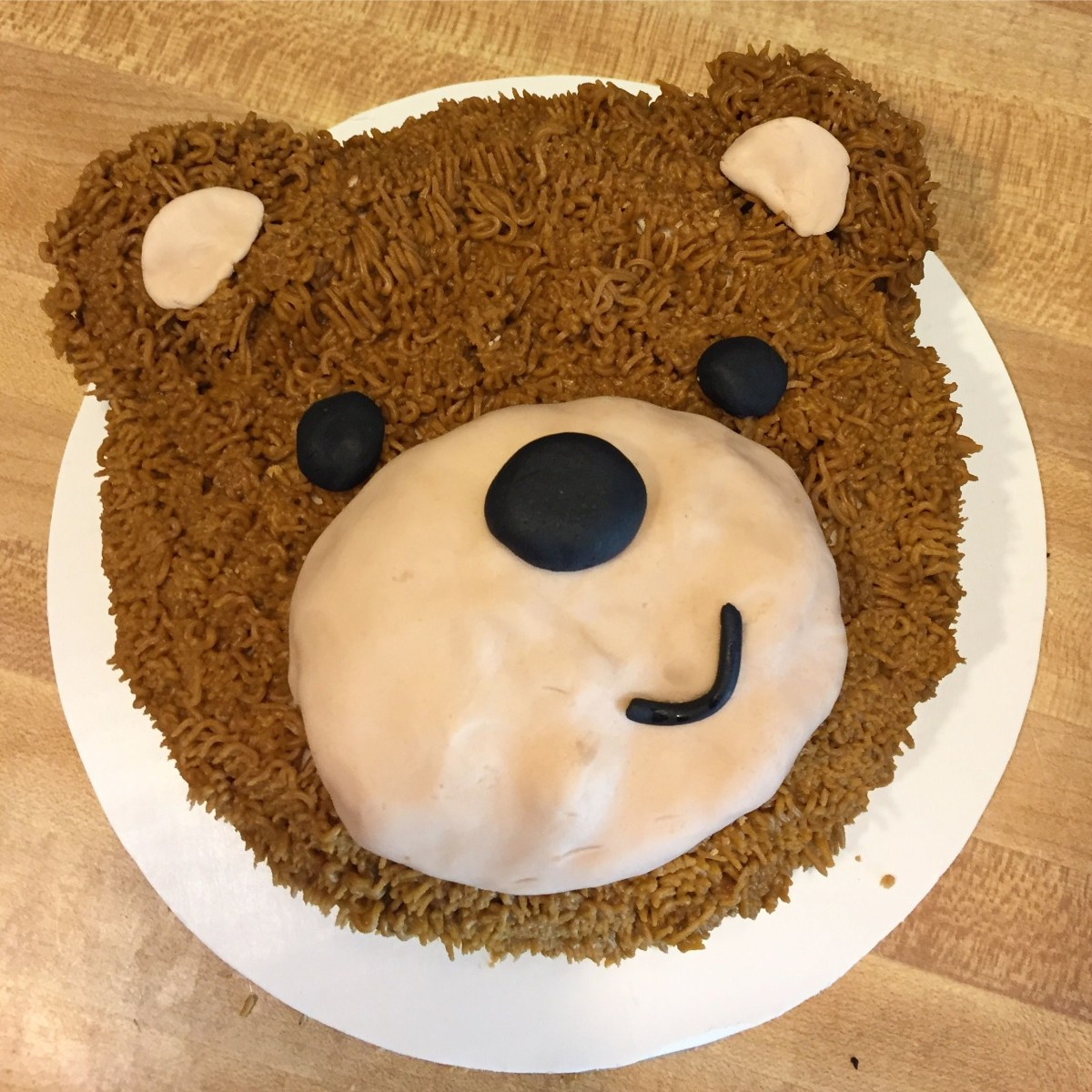 Bear Birthday Cake Teddy For First Party Oliver Ideas