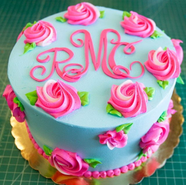 Birthday Cake Designs A Lilly Pulitzer Inspired Floral Birthday Cake Cake 084