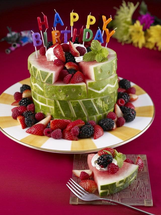 Birthday Cake Designs Watermelon Board Birthday Cake